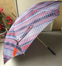 NWT $130+ Authentic Auto Missoni Chiara Variegated Stripes Umbrella, Multi Color