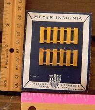 Vintage USN Navy JROTC Captain rank pins insignia Meyer card