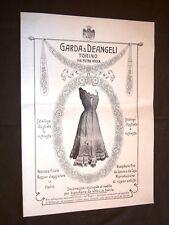 Pubblicità Epoca per Collezionisti Anno 1909 Garda & Deangeli Torino Biancheria