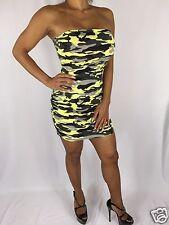 Connie's Sexy Yellow Camouflage Mini Tube Dress or Bikini cover up S/M
