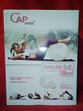 CAP Fitness 55cm Stability Ball With Pump Blue Wm7 M01