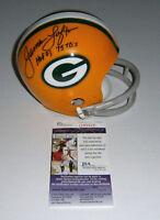 PACKERS James Lofton signed mini helmet w/ HOF03 75TDs JSA COA AUTO Autographed