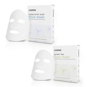 Croma Hyaluronic Acid Rejuvenating or Green Tea Calming Single Sachet Face Mask