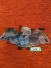 TY BEANIE BABIES - BATTY- MULTI-COLOURED BAT- WITH TAG - RETIRED