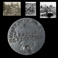 WWI Argonne & Somme Vet A.E.F. Named Dog Tag 33rd Division Co F. 108th Engineers