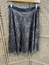 Monsoon gold Lined A Line skirt With Beaded Embellishment Size 10 Bnwt