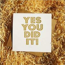 Gold Foil - Graduation/Celebration Card Friend Brother Sister Cousin You Did It
