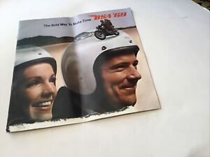 BSA 1969 USA RANGE, MOTORCYCLE SALES BROCHURE. ORIGINAL