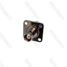 BNC Jack 4 holes flange Panel Mount to N female jack connector adapter
