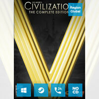 Sid Meier's Civilization V 5 Complete Edition for PC Game Steam Key Region Free