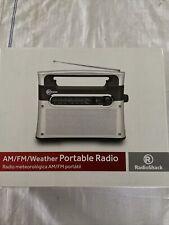 Radio Shack Portable Analog AM FM WX Weather Radio 12-889 AC/DC 12v