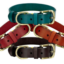 Soft Pet Dog Leather Collars Heavy Duty Adjustable for Small Large Dogs XS-2XL