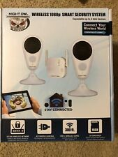 NEW NIGHT OWL WIRELESS 1080P HD SMART SECURITY SYSTEM 16GB SD CARD+2 AC CAMERAS