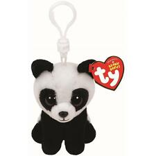 Ty Beanie Babies Baboo the Panda Clip Plush Key chain Toy ( New )