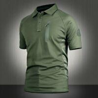 Men Tactical T-shirt Quick Dry Combat Short Sleeve Military Army Shirt Basic Tee