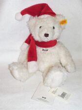 Steiff 111716 Weihnachtsteddybär Victor 28 cm weiß Vitrinenstück - sooooooo süß