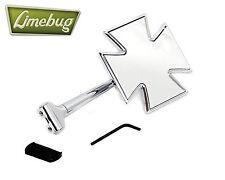 Mooneyes Iron Cross Maltese Straight Arm Wing Mirror Fender Chrome VW Beetle Bug