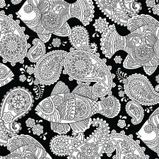 Michael Miller Color Me DC7156 Black Fish Frenzy BTY Cotton Fabric