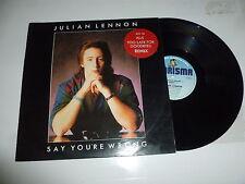 """JULIAN LENNON - Say You're Wrong - 1984 UK 3-track 12"""" Vinyl Single"""