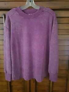 NWT All in Motion Long Sleeve Women Activewear Pullover Purple SZ S MSRP $24.00