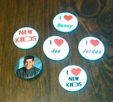 Lot of Vintage New Kids On The Block Pin Backs / Buttons