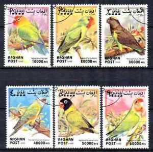 Oiseaux Afghanistan 1999 (2) série complète de 6 timbres oblitérés used