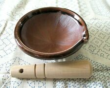 Koishiwara ware Hizan Mortar&Pestle Set Suribachi Mini Grinding Bowl Japan FoodA