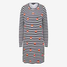 *NEW*blue white red FENCH CONNECTION Stripe Spot 2in1 Dress $129.95 12