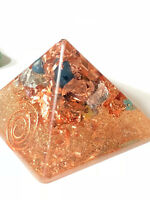 ORGONE PYRAMIDS - HAND MADE TO ORDER - CRYSTALS & COPPER 3X3.5in GIZA STYLE