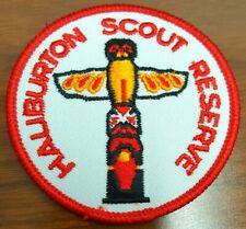 Haliburton Scout Reserve crest badge patch (1980s Totem) Scouts Canada