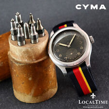 1940's CYMA [Swiss] Dirty Dozen WWW MOD WW2 Vintage Military Watch 15j Cal. 234