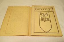Thomas Wilhelm Reimer   Sonette und Terzinen  1927