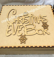 2 x  christmas eve box topper 200 x 180mm mdf wood laser cut personalised