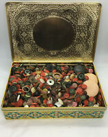 Over 2 Pounds Vintage Sewing Buttons Lot Mixture of. Years In Very Nice Tin