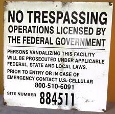 NO TRESPASSING Site 884511 Federal Govt Industrial Sign Aluminum 24 x 24 S332