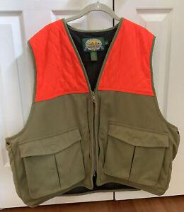 Cabela's hunting vest orange and green Men's Size XL