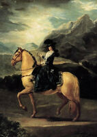 """perfect oil painting handpainted on canvas """"a lady riding on a horse""""N4626"""