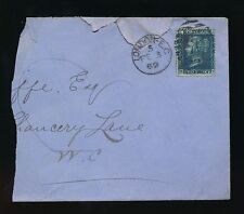 GB QV TWOPENNY BLUE Plate 12 on PART COVER 1869