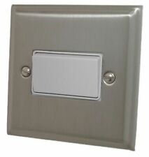 G&H DSN69W Deco Plate Satin Nickel 1 Gang Triple Pole 10A Fan Isolator Switch