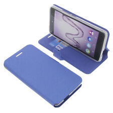 Funda para Wiko ROBBY Book Style protectora Teléfono móvil estilo libro AZUL