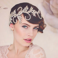 Wedding Bridal Crystal Rhinestone Silver Crown Headbands Tiara Hair Accessories