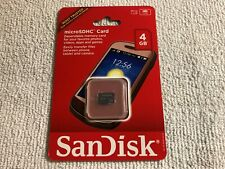 Brand New/Still Sealed - Sandisk - 4GB Micro SDHC Memory Card - SDSDQ-004G-A11M