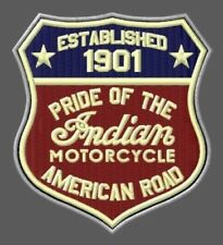 """Indian Motorcycle Embroidered Patch ~3-3/4"""" x 3-1/4"""" Bordado Chief Scout V2 Twin"""