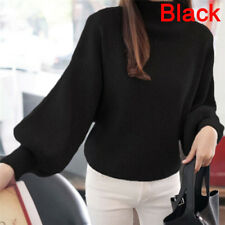 Women Sweaters Fashion Turtleneck Long Sleeve Pullovers Loose Knitted SweatersW&