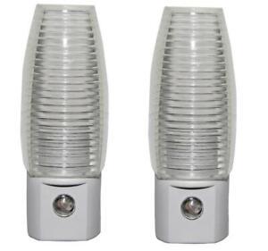2 Pack LED Auto On Bedroom Nightlight Plug in Night Lamp 5000k Daylight