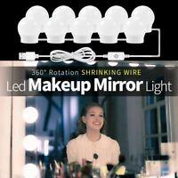 CanLing USB LED 12V Vanity Mirror Makeup Lamp 10  Bulbs Kit For Dressing Table S
