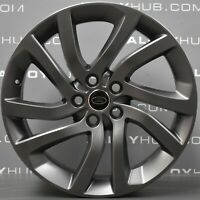 """GENUINE LAND ROVER DISCOVERY 5 5011 20"""" INCH SATIN GREY HSE ALLOYS WHEELS X4"""
