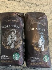 STARBUCKS SUMATRA (2LB) ORGANIC WHOLE BEAN COFFEE DARK ROAST EXP. 07/2020