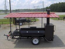 RIB BOX  BBQ PIT SMOKER trailer gas starter GRILL /roof