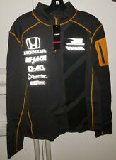 Rahal Letterman Lanigan Honda Racing Men's Grid Quarter Zip Pullover  NWT Large